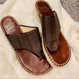 {ANDRE ASSOUS} Brown Addie Espadrille Sandals